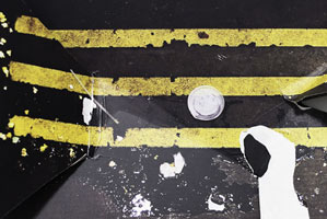 guillermo gudino contemporary art performance broken photography destruction cuts rips abstract abstract